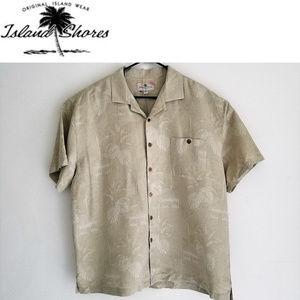 63fc215a Island Shores Shirts - Mens Casual Shirt 100% Silk Island Shores Sz XXL